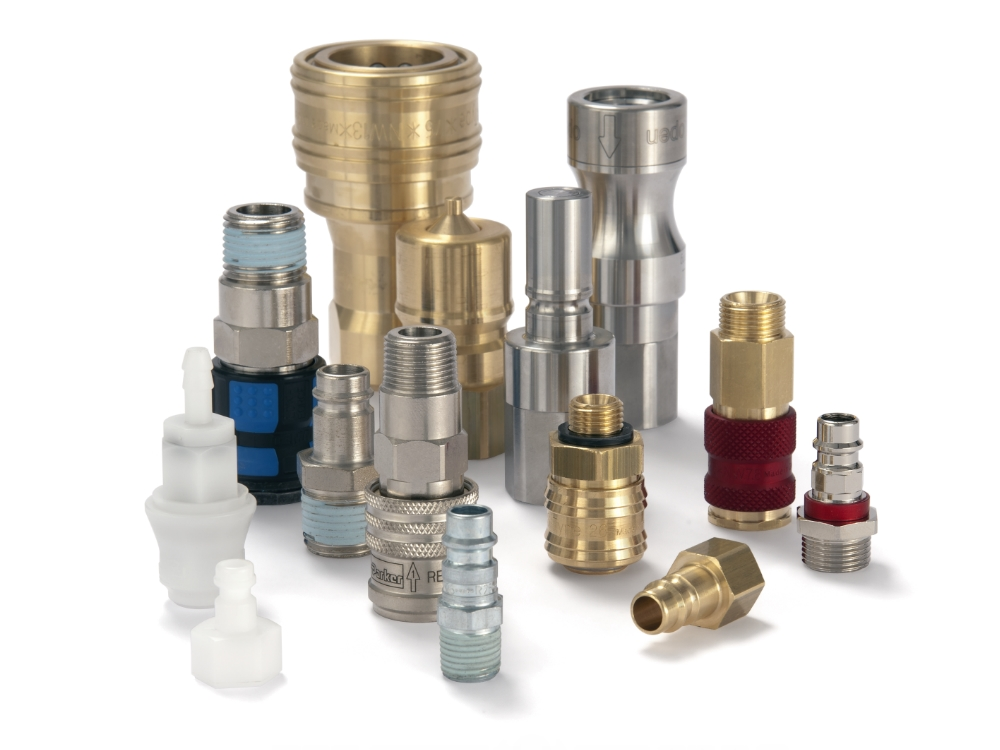 Connectors to water for use in the plastics industry