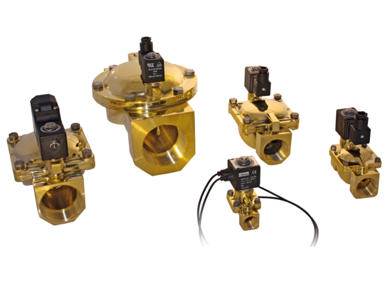 Electric valves  (Solenoids) for all types of flows