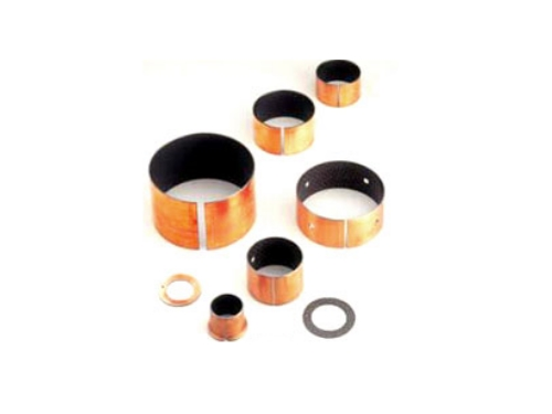 Plastic and metal bushings
